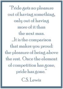Pride - C.S. Lewis - Blog