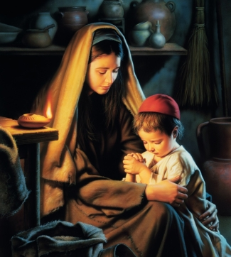 In Favour with God (Jesus Praying with His Mother)